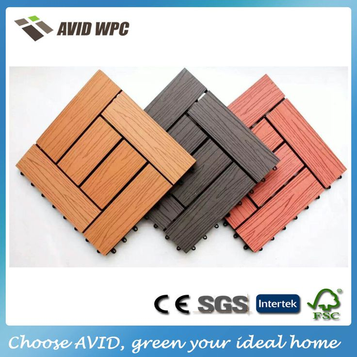 De fácil limpieza y bajo precio wpc compuesto de madera azulejos/baldosas cubiertas al aire libre para la venta