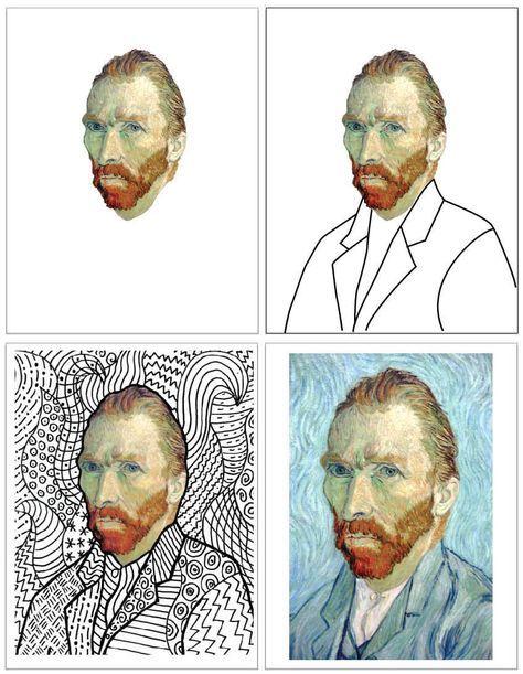 Deluxe Van Gogh Line Art Template – Lindsay
