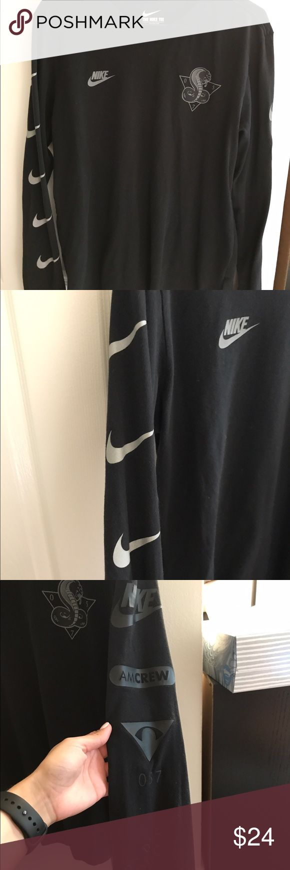 Nike Men's Long Sleeve Used, like new! Good condition! No longer fits! MENS! Kobe and Nike symbols on front and back and on both sleeves! Black and gray! No trades please! Nike Shirts Tees - Long Sleeve