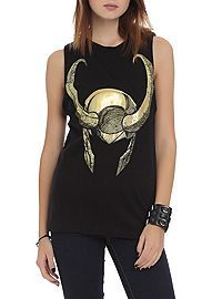 HOTTOPIC.COM - Marvel Thor Loki Helmet Muscle Girls Top