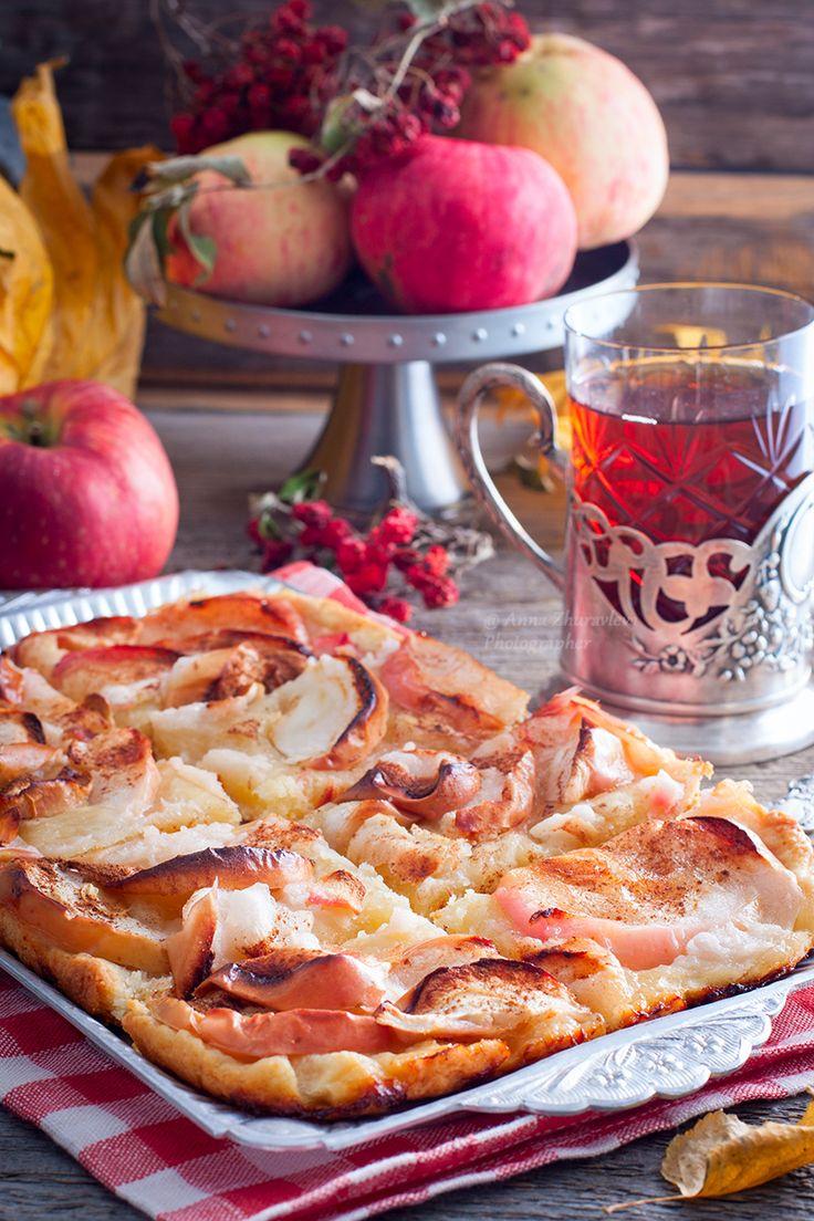 """""""Мятый"""" яблочный пирог"""
