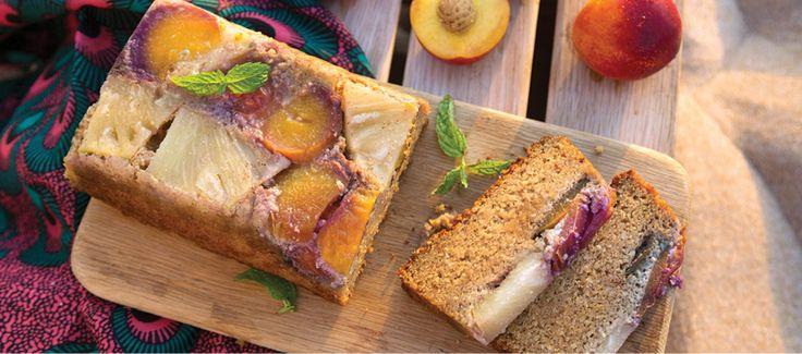 Sarah Graham's Sticky Pineapple and Nectarine Cashew Nut Cake - Food Lovers Market