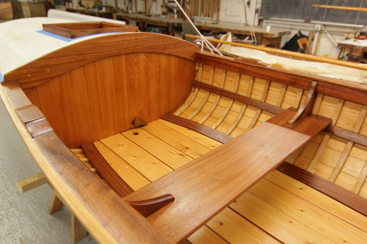 """Port Hadlock WA - Northwest School of Wooden Boatbuilding - Traditional Small Craft - 1869 Powell Expedition 16-foot Whitehall """"Emma Dean"""" being built"""