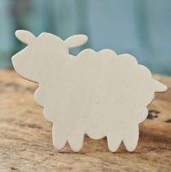 Unfinished Wood Sheep Cutout - Animal and Pet Cutouts - Wood Cutouts - Unfinished Wood - Craft Supplies