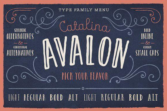 Catalina Avalon by Kimmy Design on @creativemarket