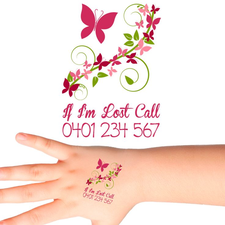 Floral Personalised Safety Tattoos #500 (16 pack)