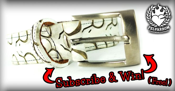 Subscribe to our newsletter & win this exclusive belt! http://felvarrom.com/win-a-belt-game/