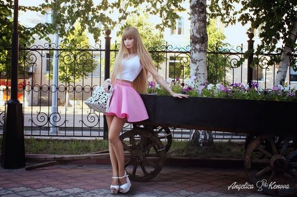 kenova girls Living doll human doll human barbie anzhelika kenova angelica kenova barbie doll look pretty girl valeria lukyanova 517 notes angelica kenova better.