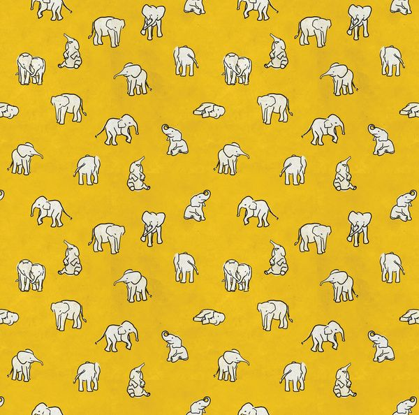 indian baby elephants Art Print by Estelle F | Society6 wish this was fabric for a pillow