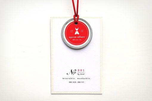 love everything about this // the 'no.' area the simple icon with the red tag  // could be a tag I'd use for packaging