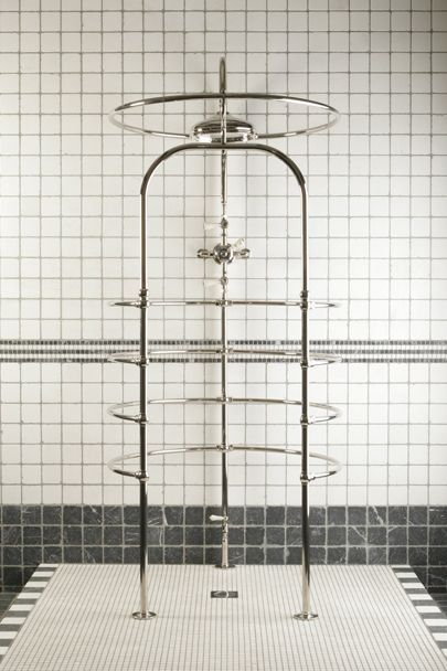 Beam me up to bathing heaven! 19th century French style shower enclosure by Catchpole & Rye