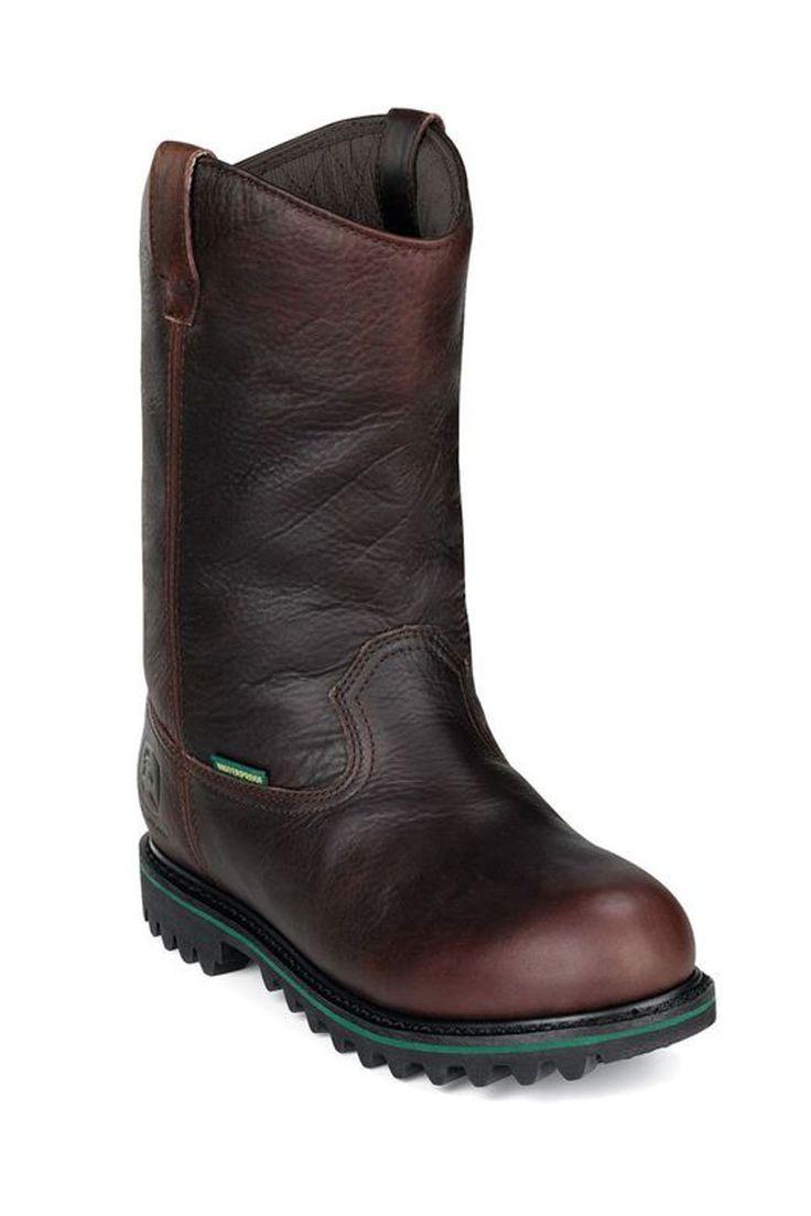 "John Deere Men's Work Boots on Sale @ HeadWest - 12"" Waterproof Insulated Wellington Work Boots"