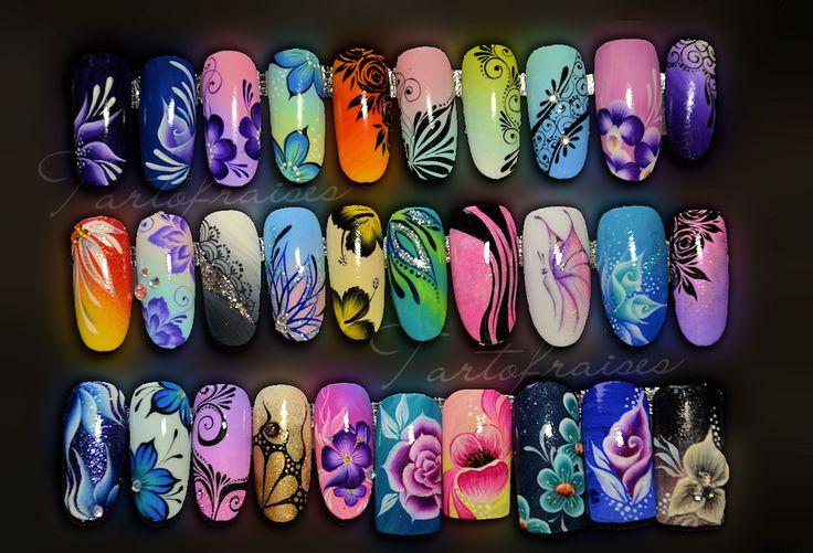 Nail art sur capsules et décoration foil | Tartofraises