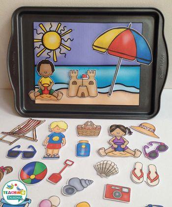 Summer Vocabulary: Interactive Speech Therapy Activities by teachingtalking.com