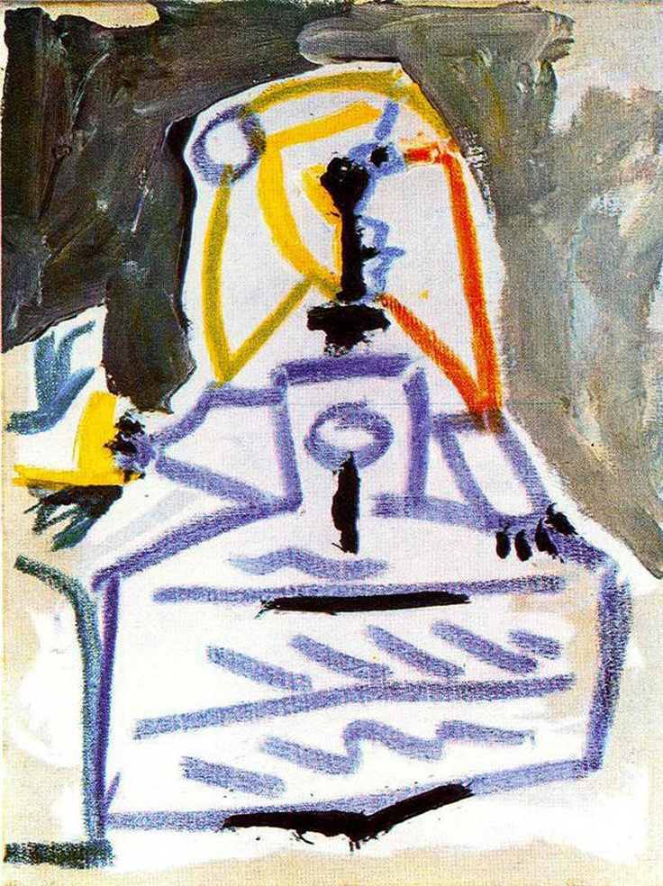 Infanta Margarita from Las Meninas reinterpreted by Picasso.  Can be seen in Museu Picasso in Barcelona.