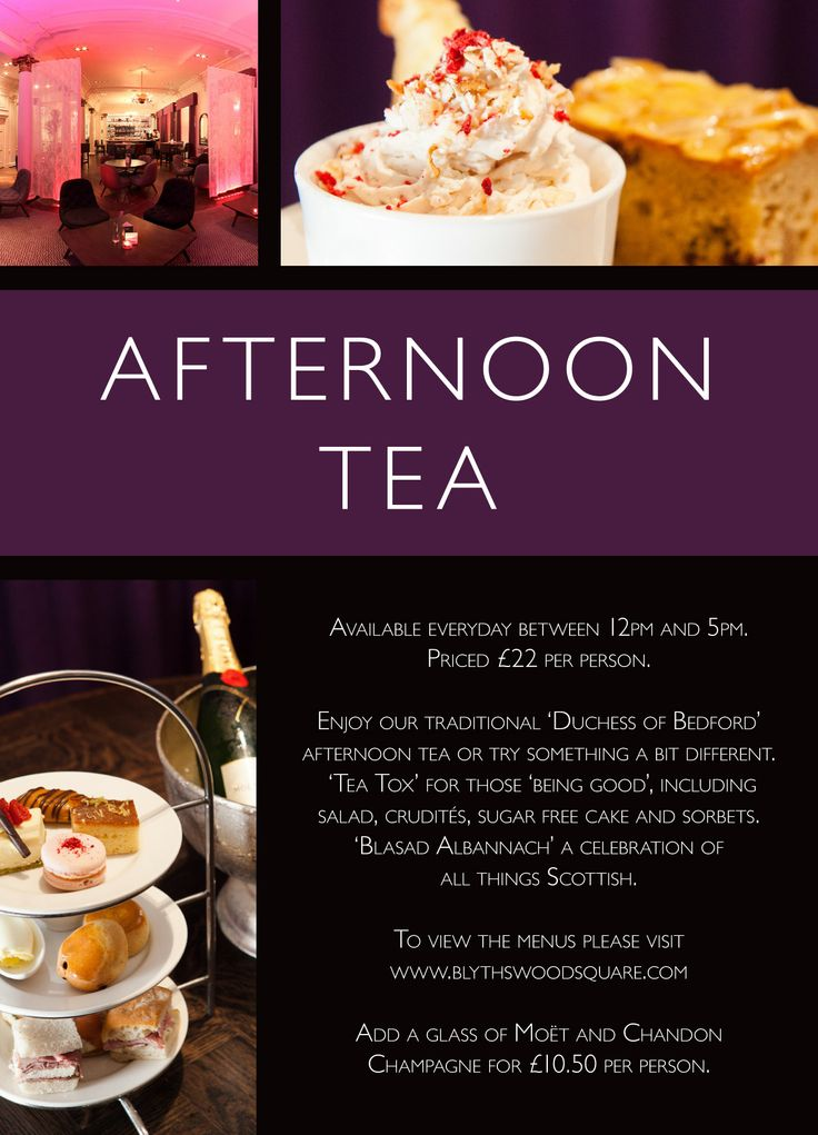 WHAT AFTERNOONS WERE MADE FOR  The story goes that Afternoon Tea became popular around 1841, when Anna Maria Russell, 7th Duchess of Bedford requested that tea and cakes be served in the late afternoon to tide her over until her evening meal. As time passed the Duchess would invite friends to tea, creating the sociable event that we now know and love. Priced £22 per person. Add a glass of Moët and Chandon Champagne for £10.50 per person.