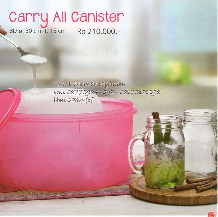 Katalog Tupperware Promo Agustus 2014 - Carry All Canister