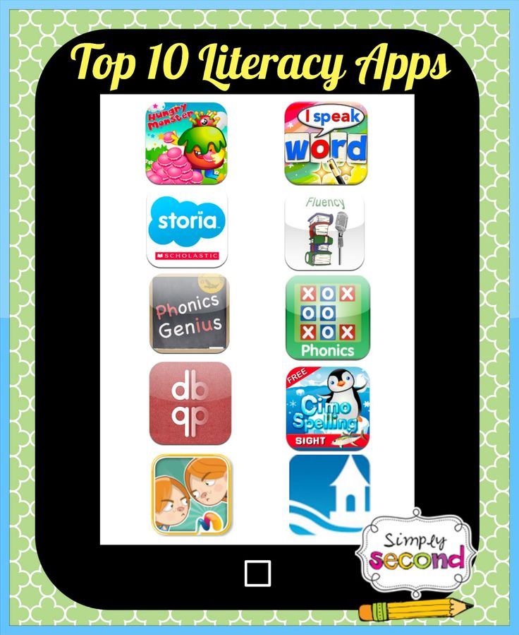 Simply Second: Top 10 Literacy Apps