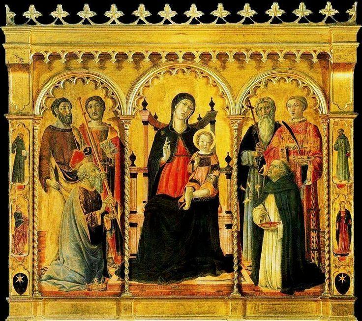 Веккьетта. «Мадонна с младенцем и святыми» 1457 г. Флоренция, галерея Уффици.