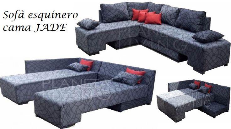 sillón esquinero cama 2 plazas, chenille o talampaya,premium