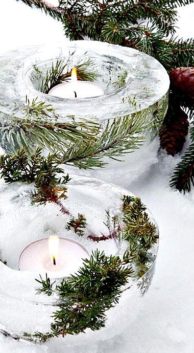 Beautiful Ice Bowl Lanterns to make                                                                                                                                                                                 More