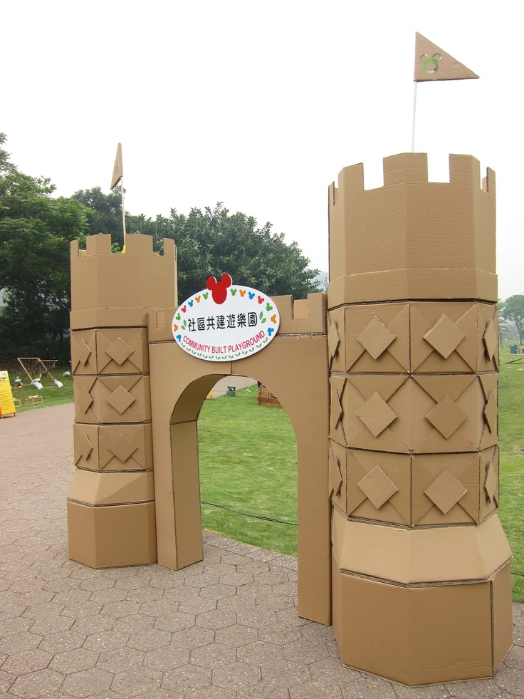 Castle made by carton box