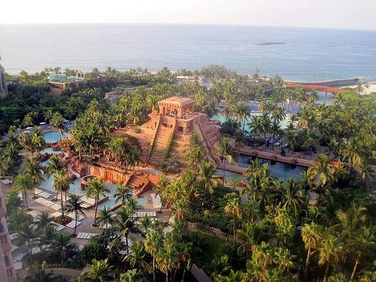 Atlantis Paradise Island resort, on a spit of land called Paradise Island near the Bahamas' capital city of Nassau, is designed to recall the mythic lost city of Atlantis.