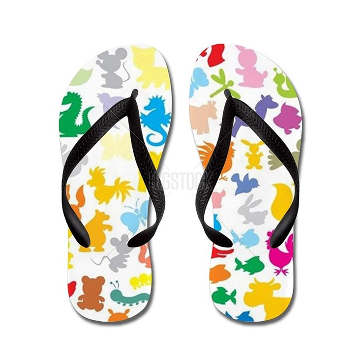 JKYUKO Silhouettes of animals flip flops >>> Check out this great product.