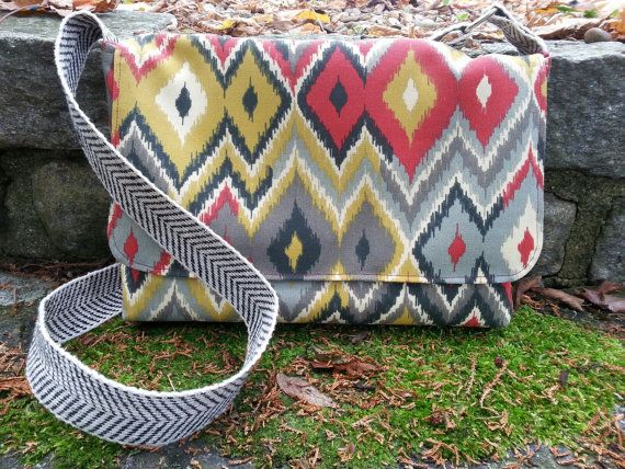 Chevron messenger bag, crossbody bag, iPad cross body bag, JW service bag, Made to order