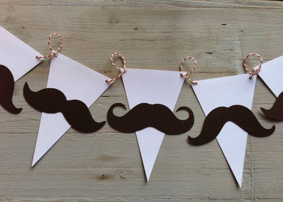 Mustache garland Baby Shower/birthday banner by papermeblossom, $10.00