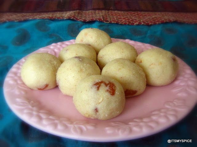 A very popular laddoo made from semolina.
