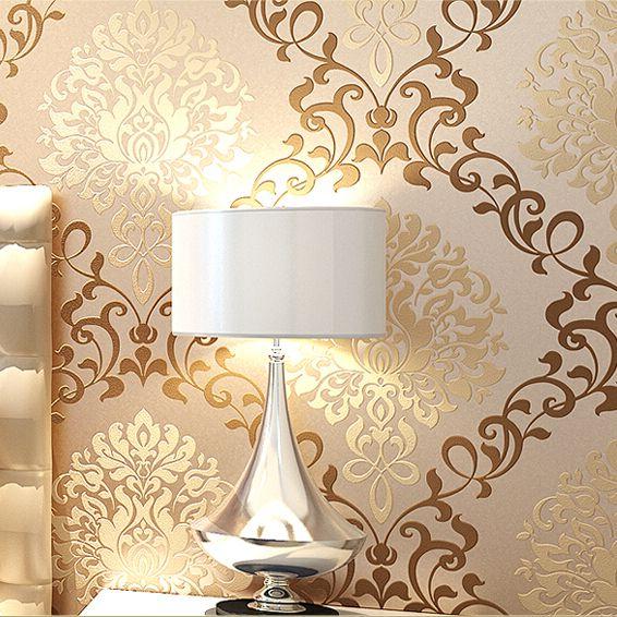 Europa cl sicos damasco dise os glitter papel tapiz para for Papel pared diseno