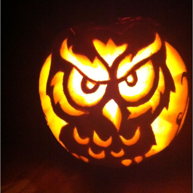 Owl pumpkin carving my art pinterest