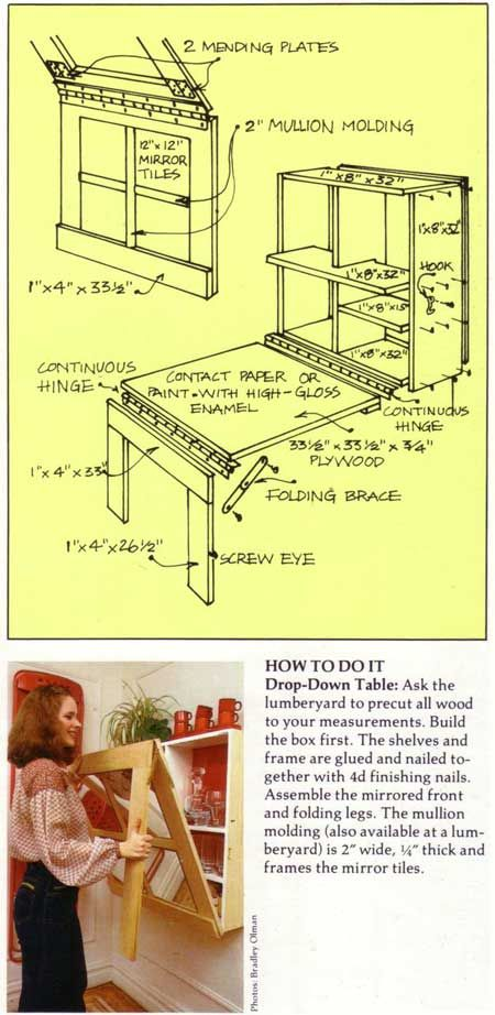 Space saving idea - Folding Table