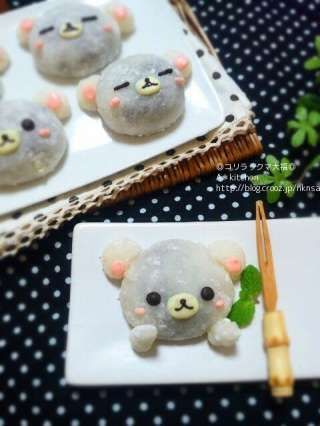 ^.^ seu cuteee ~~~ daifuku mochi that looks like rilakkuma