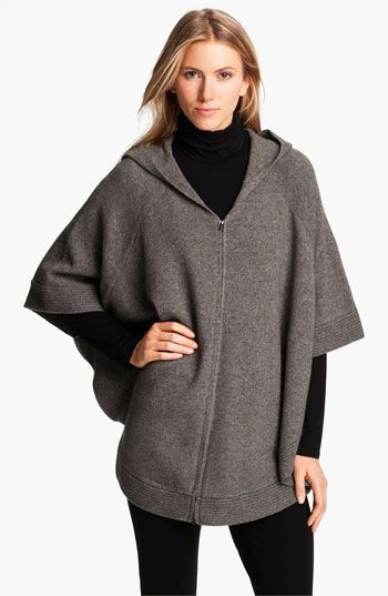 Eileen Fisher Yak & Wool Hooded Poncho available at #Nordstrom