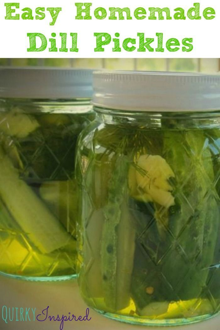 Easy Homemade Pickles Recipe — Dishmaps