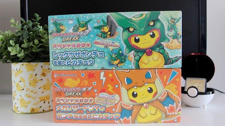 OPENING POKEMON CENTER EXCLUSIVES! -  PONCHO PIKACHU POKEMON CARD BOXES!...