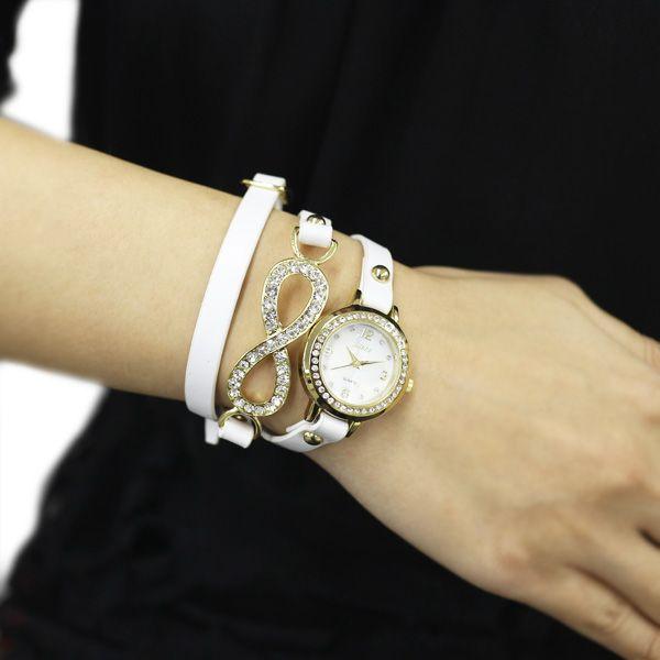 【ABISTE(アビステ)ファッションウォッチ】ロングベルトブレスレット時計/ホワイト   アビステ/ABISTE公式通販   アクセサリー・時計ブランド「ABISTE WEB SHOP」