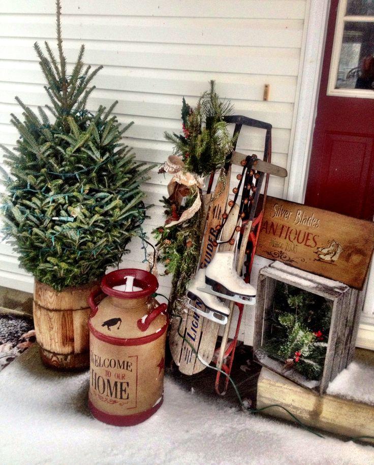 Primitive Winter decorating ❄