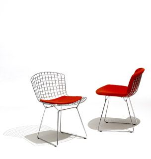 Bertoia Side Chair - Great mid-century design, plus low wind resistance so it works for rooftop gardens!