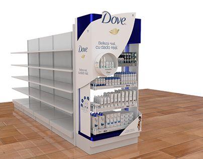 Punta de góndola diseñada para DOVE Masterbrand Colombia