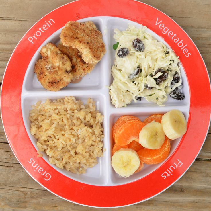 Dinner #myplate meal idea: Fish, brown rice, cabbage, and fruit!