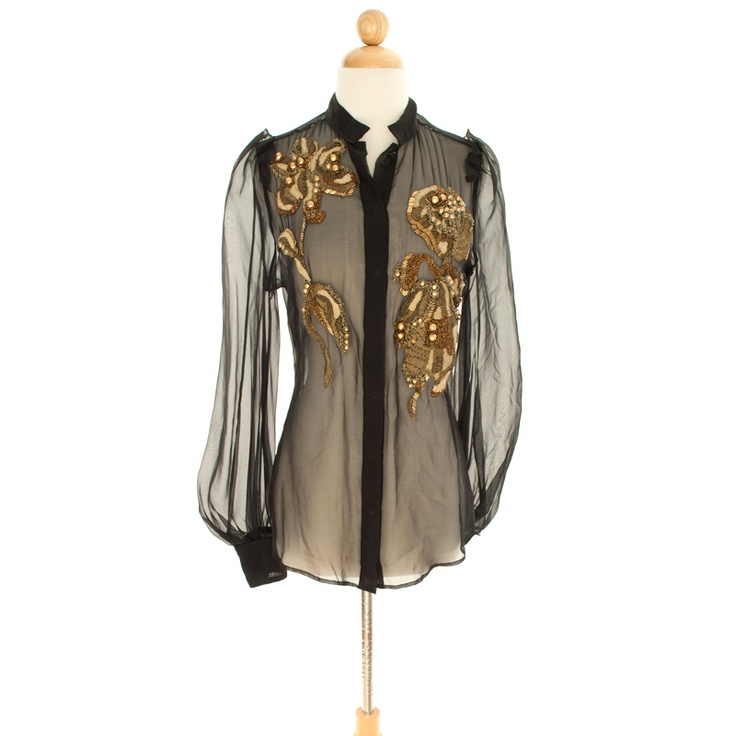 Ysl Sheer Blouse 83