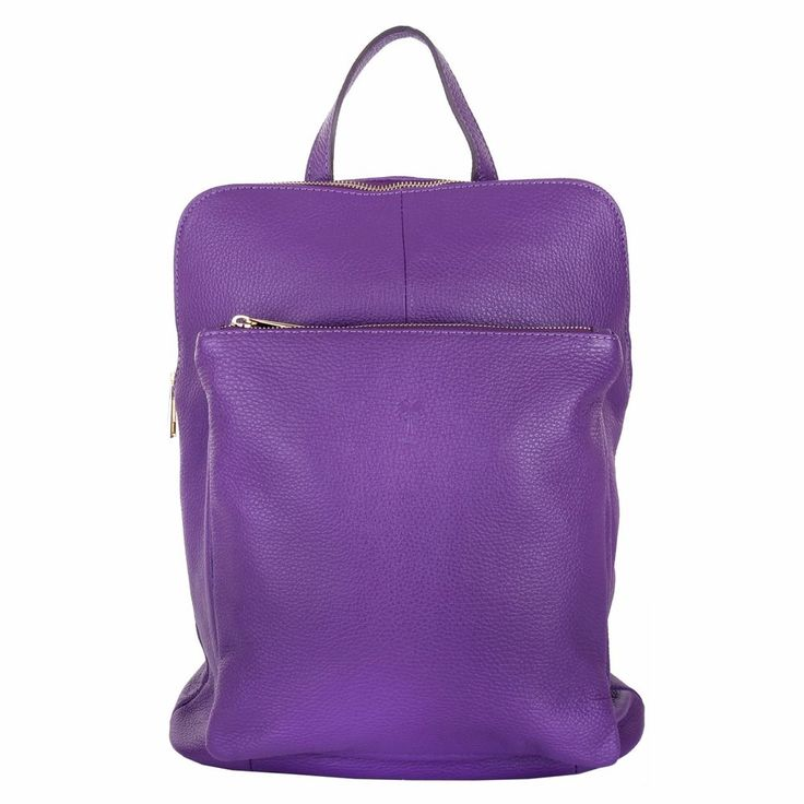 Marlafiji Bee purple Italian leather backpack