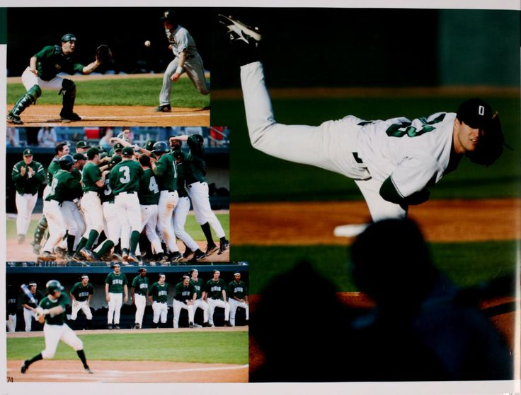 Athena yearbook, 2009. The Ohio University baseball team ...