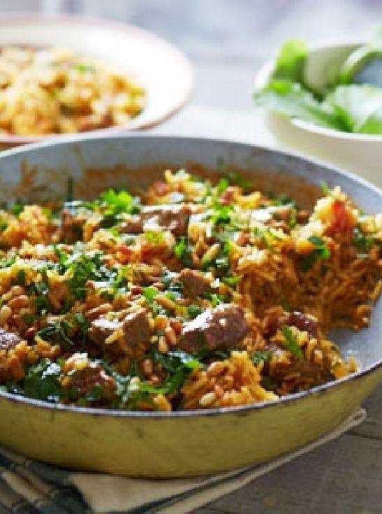 Low FODMAP & Gluten free Recipe - Turkish lamb pilau