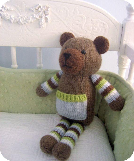 Amigurumi Knits Download : Amigurumi Knit Pocket Bear Pattern Digital Download Bear ...