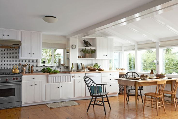 A 1950s fishing shack transforms into a charming home for Country kitchen countertop ideas