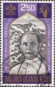 Stamp: Visit of Pope Paul VI to Uganda (East African Community).